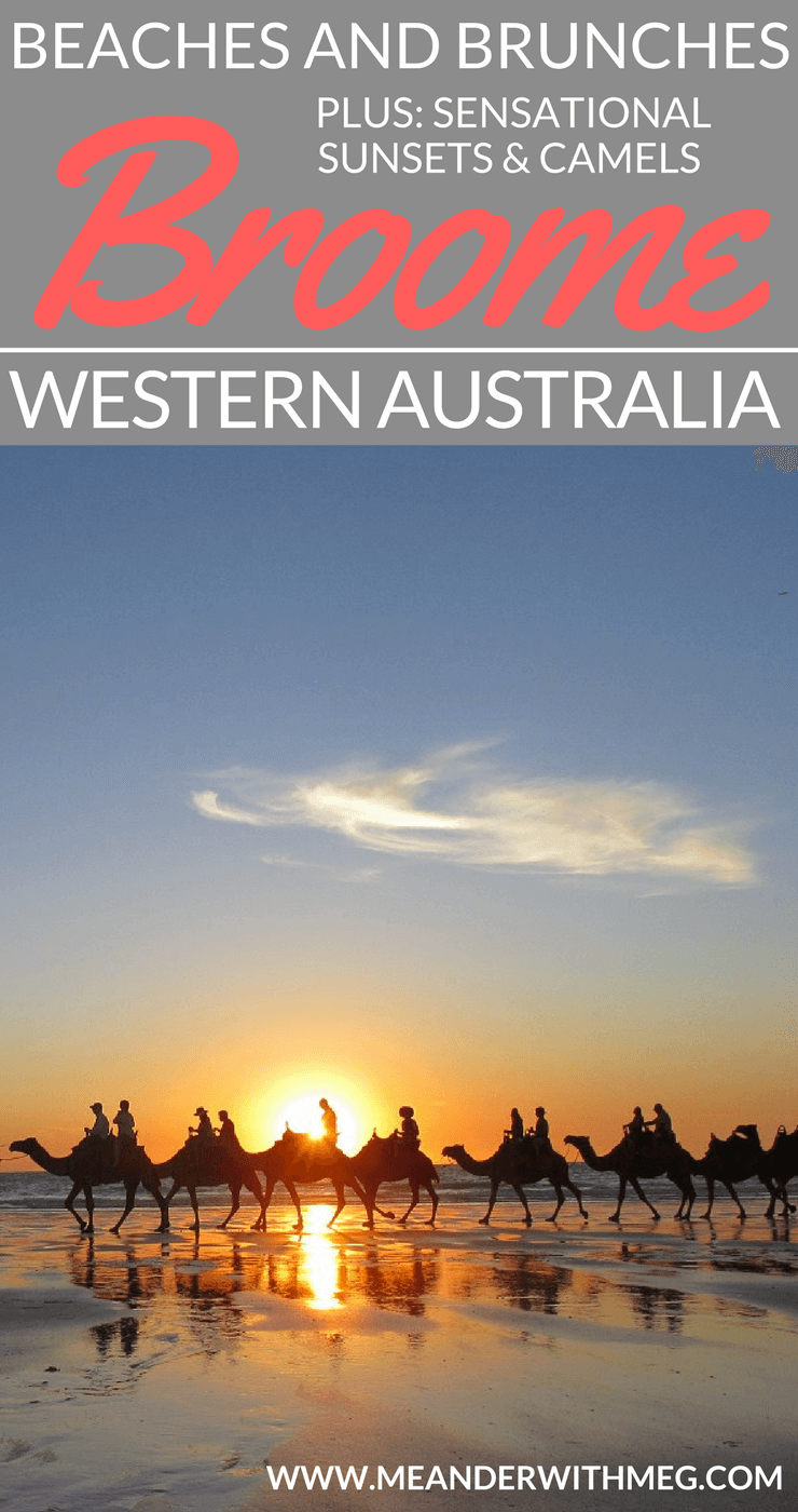 Broome is the perfect place in Western Australia for watching beautiful sunsets, checking out the ocean at Cable Beach and tasting foodie delights at the local cafes. Plus, there are camels!