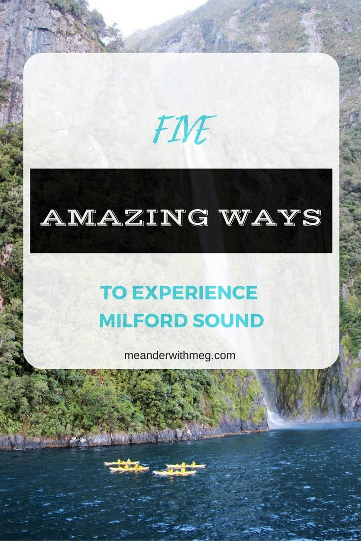 experience milford sound