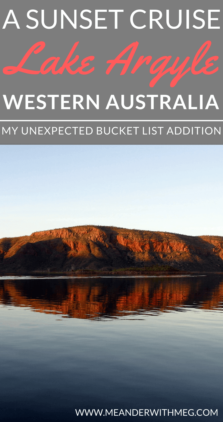 A sunset cruise on Lake Argyle in Western Australia was a beautiful addition to my Australia bucket list. A must see destination you need to add to your Australian travel planning.