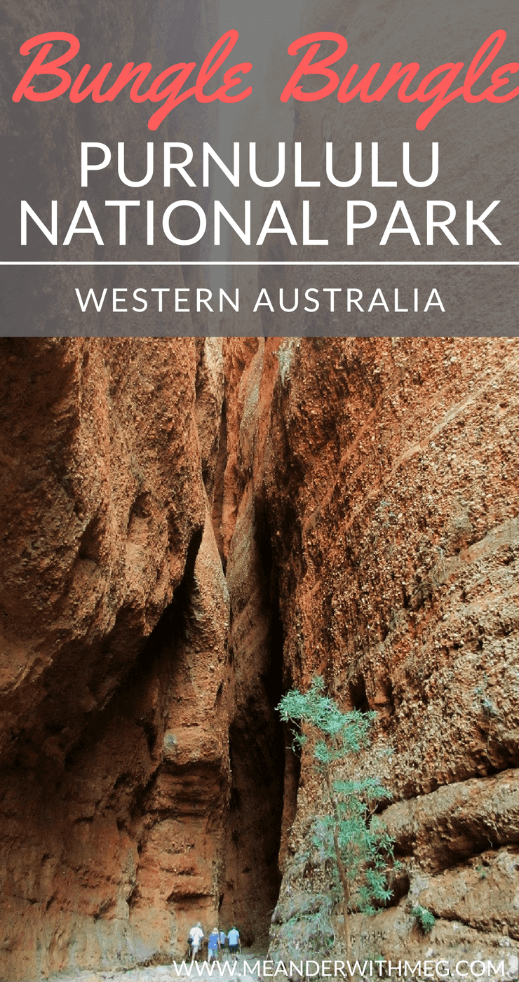 The Bungle Bungle Range is in Purnululu National Park in Western Australia. This beautiful national park is brimming with geological wonders such as Echidna Chasm and Cathedral Gorge. Perfect for your Australian road trip itinerary!