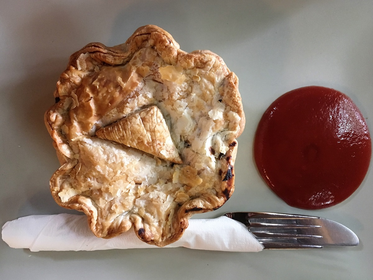 Adelaide to Alice Springs Australia pie