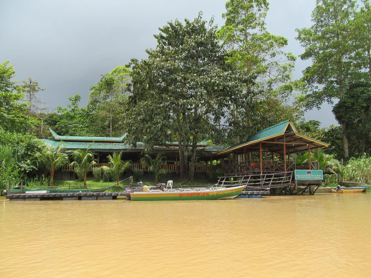 Kinabatangan River lodge Borneo