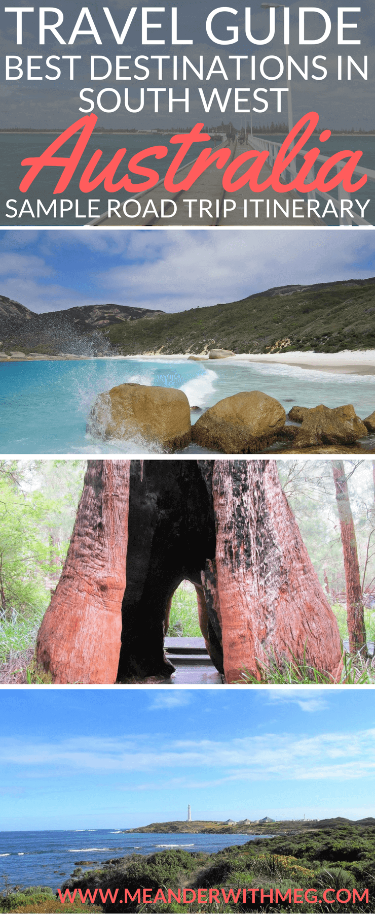 Planning a road trip in the south west of Australia? Here's my itinerary from Perth to Albany to help you get inspired! | Western Australia | Travel guide | Travel itinerary | Road trip | Perth to Albany | Things to do in Western Australia | WA | Margaret River | Busselton